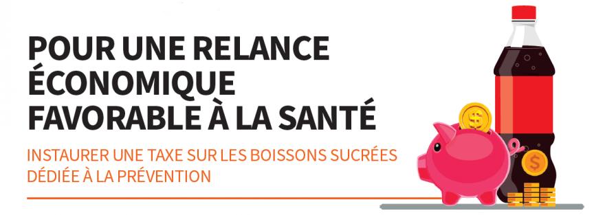 Conférence éclair : Améliorer la santé des Québécois.es et contribuer à la relance économique en instaurant une taxe sur les boissons sucrées.