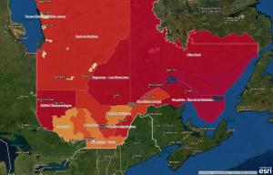 Cartographie de la consommation excessive d'alcool des adolescentes du secondaire et des femmes âgées de 18 à 44 ans au Québec